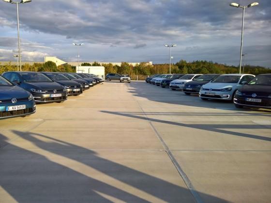 Fast die ganze Flotte auf dem Parkdeck in Baunatal!