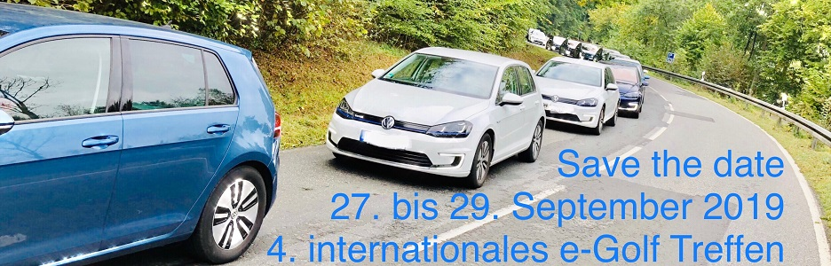 Banner e-Golf Treffen 2019 save the date
