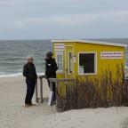 ein netter Schwatz am Strand - ein Geschäft gab es allerdings nicht...