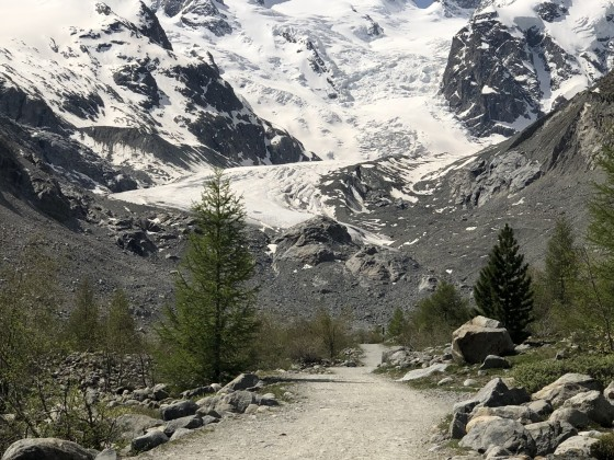 Den Morteratsch Gletscher im Engadin wieder einmal besichtigt