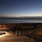 Zum Sonnenuntergang elektrisch an die See