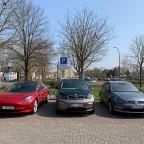 Bunter Fahrzeugmix von Forenmitgliedern gestern beim Stammtisch :-)