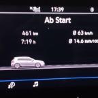 Leider unscharf, aber das ist die Tour Sindelfingen - Seiser  Alm am 22.09.2019