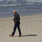 Einsamer Wanderer am Strand...