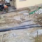 Neue Leitungen werden verlegt.