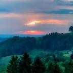 Sonnenuntergang gestern auf dem Heimweg