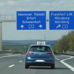Sichtung eines e-Golfs auf der Autobahn