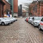 Die e-Golfe der Hamburger Städtischen Betriebe